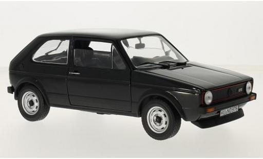 Volkswagen Golf 1/18 Norev I GTI black 1976 diecast model cars