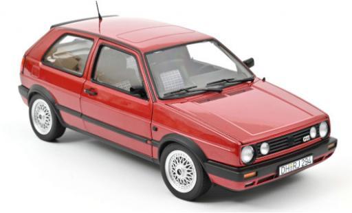 Volkswagen Golf 1/18 Norev II GTI metallise red 1990 diecast model cars