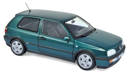 Volkswagen Golf 1/18 Norev III VR6 metallise green 1996 diecast model cars