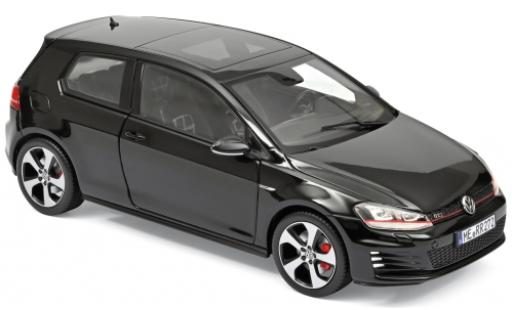 Volkswagen Golf 1/18 Norev VII GTI black 2013 diecast model cars
