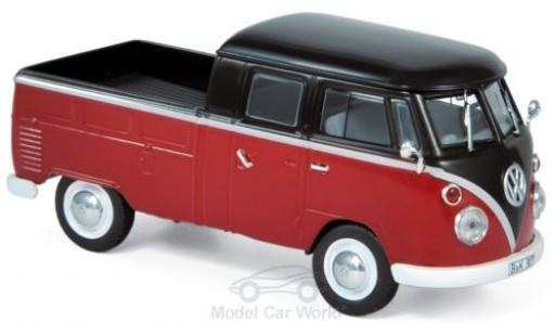 Volkswagen T1 1/43 Norev Doppelkabine rouge/noire 1961 miniature