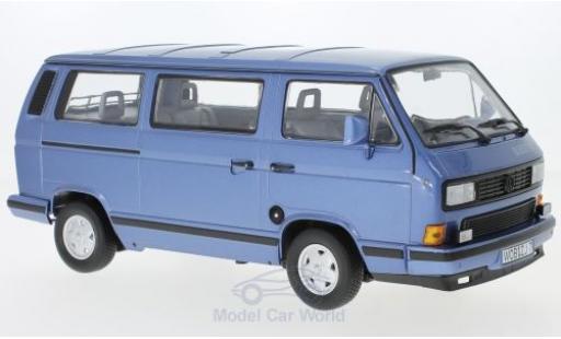 Volkswagen T3 B 1/18 Norev Multivan luestar metallise bleue 1990 miniature