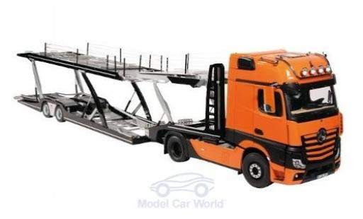 Mercedes Actros 1/18 NZG GigaSpace 4X2 FH25 orange/black Autotransporter diecast