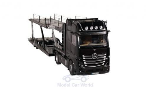 Mercedes Actros 1/18 NZG GigaSpace 4X2 FH25 negro/gris Autotransporter miniatura