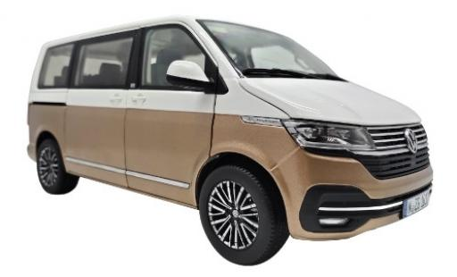 Volkswagen T6 1/18 NZG .1 Multivan Generation Six white/bronze 2019 diecast model cars