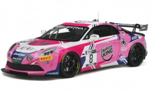 Aston Martin V8 Vantage GT4 1/18 Ottomobile Alpine A110 GT4 No.8 Team Speed Car French GT4 Cup 2020 R.Consani/B.Lariche diecast model cars
