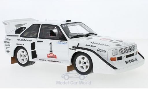 Audi Sport Quattro 1/18 Ottomobile Sport quattro S1 E2 No.1 Olympus Rallye 1985 H.Mikkola/A.Hertz miniature