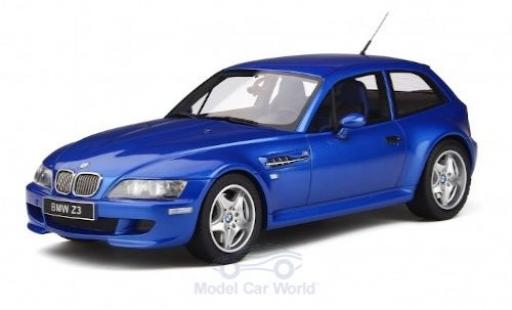Bmw Z3 1/18 Ottomobile M Coupe 3.2 metallise blu 2000 modellino in miniatura