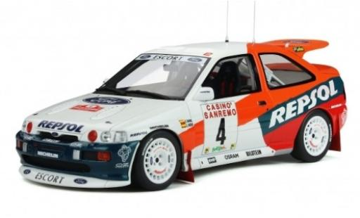 Ford Escort 1/18 Ottomobile RS Cosworth Gr.A No.4 Repsol Rallye WM Rally San Remo 1996 C.Sainz/L.Moya coche miniatura