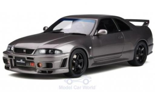 Nissan Skyline 1/18 Ottomobile GT-R (BCNR33) metalico gris RHD Grand Touring Car by Omori Factory miniatura