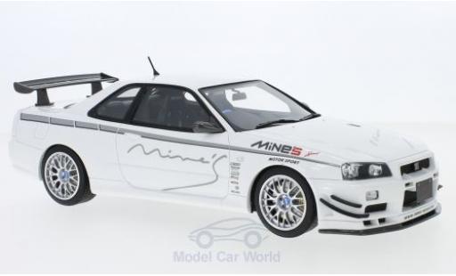 Nissan Skyline 1/18 Ottomobile GT-R (R34) MineS white RHD 2011 diecast model cars