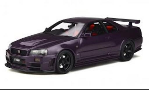 Nissan Skyline 1/18 Ottomobile GT-R (Z34) Nismo Z-Tune metallise purple RHD 1998 avec noire jantes diecast model cars