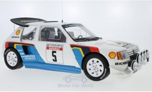 Peugeot 205 1/18 Ottomobile T16 Evo 2 No.5 Talbot Sport Rallye WM Rallye Tour de Corse 1986 B.Saby/J-F.Fauchille miniature