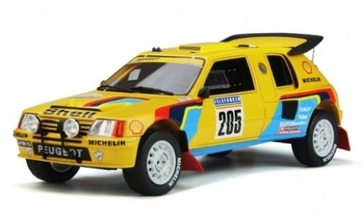 Peugeot 205 1/18 Ottomobile T16 Grand Raid No. S Rally Paris Dakar 1987 A.Vatanen/B.Giroux diecast model cars