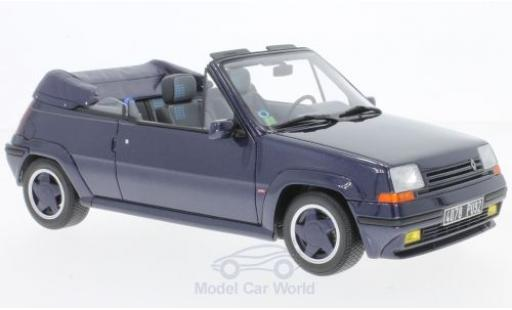 Renault 5 1/18 Ottomobile GT Turbo Cabriolet by EBS metallise bleue 1990 miniature
