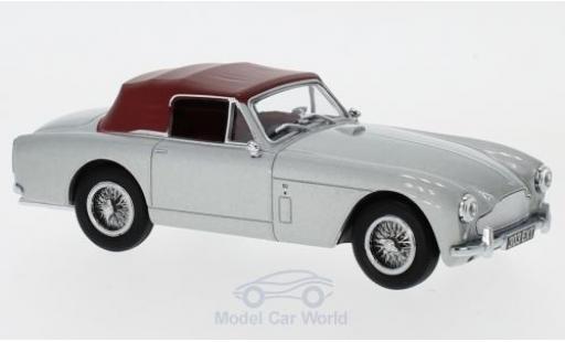 Aston Martin DB2 1/43 Oxford MKIII DHC metallise grise/rouge RHD miniature