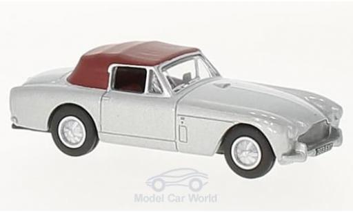 Aston Martin DB2 1/76 Oxford MkIII DHC grise/matt-rouge miniature