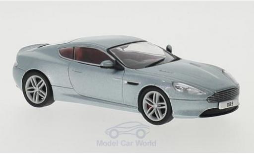 Aston Martin DB9 1/43 Oxford Coupe mettalic blau RHD modellautos
