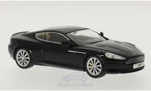 Aston Martin DB9 1/43 Oxford Coupe noire RHD miniature