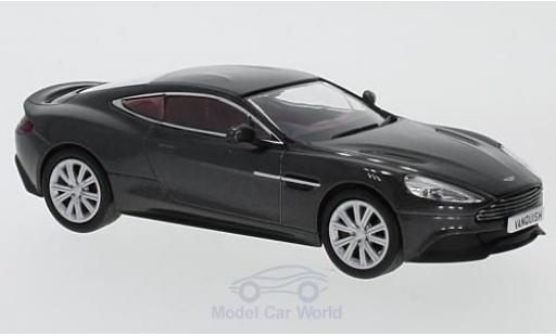 Aston Martin Vanquish 1/43 Oxford Coupe metallise grise RHD miniature