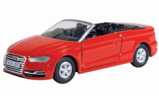 Audi S3 1/76 Oxford Cabriolet rojo RHD coche miniatura
