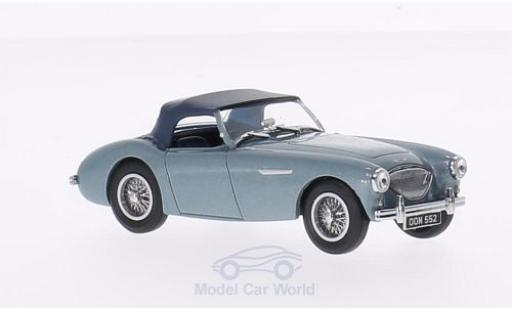 Austin Healey 100 1/43 Oxford BN1 métallisé bleue/bleue RHD miniature