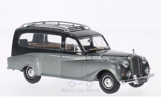 Austin Princess 1/43 Oxford Hearse noire/metallise grise RHD miniature