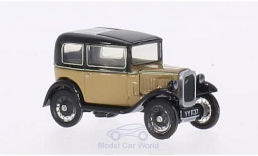 Austin Seven 1/76 Oxford RN Saloon beige/noire RHD miniature