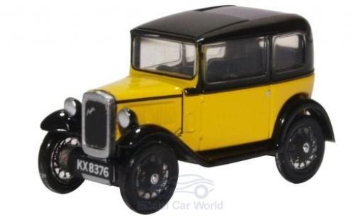 Austin Seven 1/76 Oxford Saloon yellow/black diecast model cars
