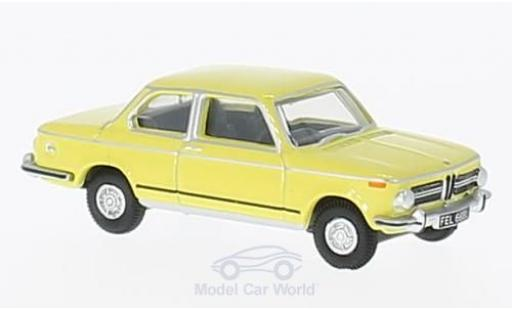 Bmw 2002 1/76 Oxford BMW jaune RHD miniature
