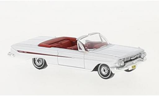 Chevrolet Impala 1/87 Oxford Convertible blanche/rouge 1961 miniature