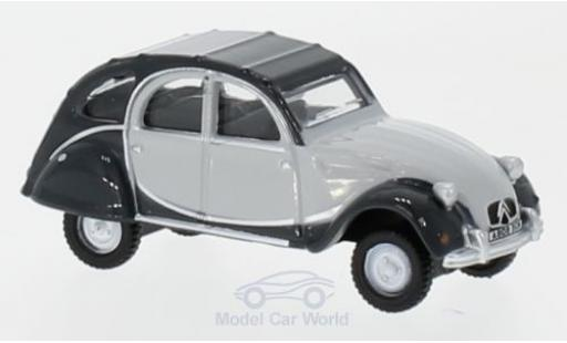 Citroen 2CV 1/76 Oxford Charleston grise/grise miniature