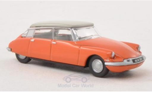 Citroen DS 19 1/76 Oxford orange/grise miniature