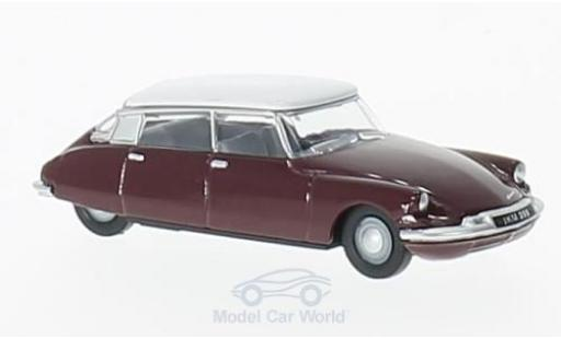 Citroen DS 19 1/76 Oxford rouge/blanche miniature