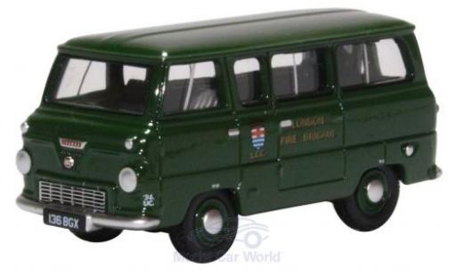 Ford 400E 1/76 Oxford Minibus verte London Fire Brigade miniature
