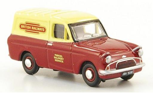 Ford Anglia 1/76 Oxford Kastenwagen rouge/beige British Railways miniature