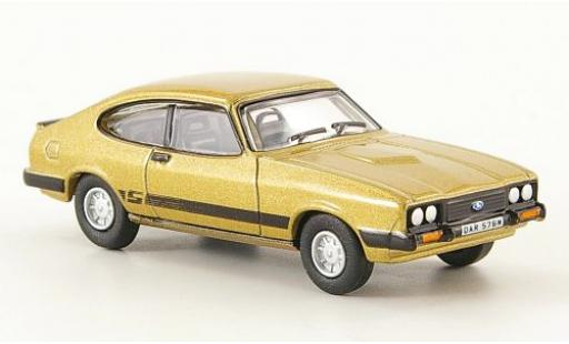 Ford Capri 1/76 Oxford Mk III gold miniature