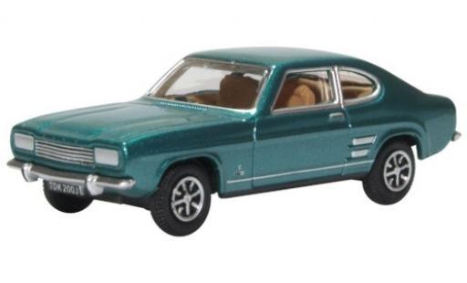 Ford Capri 1/76 Oxford Mk1 metallise turquoise RHD miniature
