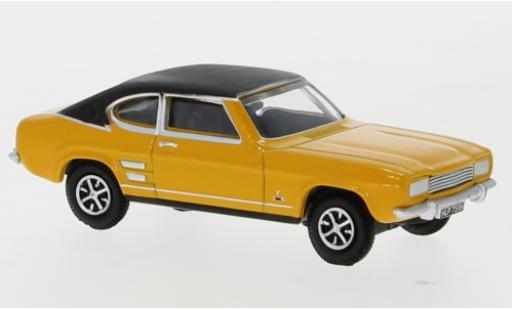Ford Capri 1/76 Oxford MKI yellow/black 1970 diecast