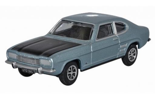 Ford Capri 1/76 Oxford MkI metallise bleue/noire RHD miniature