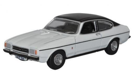 Ford Capri 1/76 Oxford MkII blanche/matt-noire RHD 1974 miniature