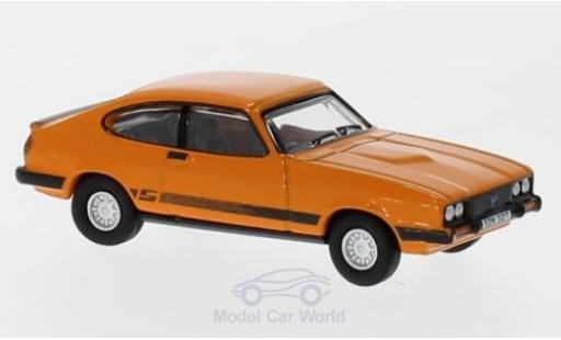 Ford Capri 1/76 Oxford MkIII 3.0S orange miniature