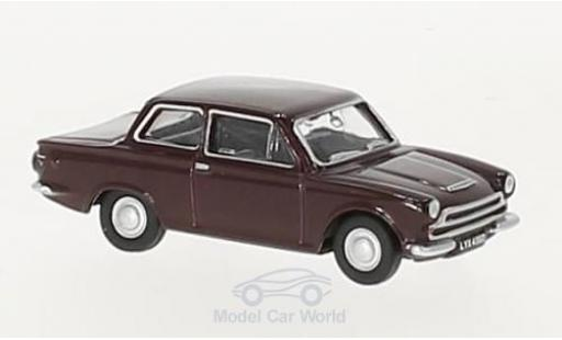 Ford Cortina 1/76 Oxford MKI rouge RHD miniature