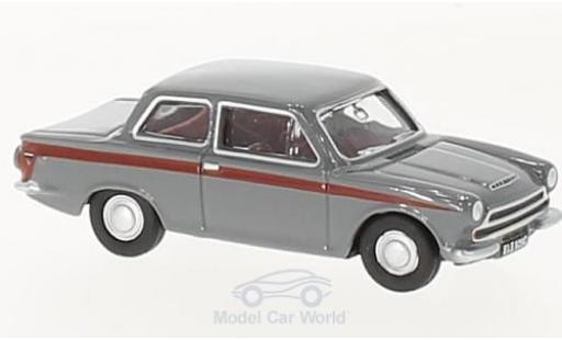 Ford Cortina 1/76 Oxford MKI grise/rouge miniature