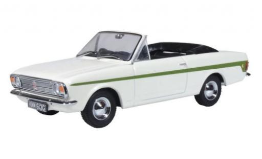 Ford Cortina 1/43 Oxford MkII Crayford Convertible blanco/verde RHD coche miniatura