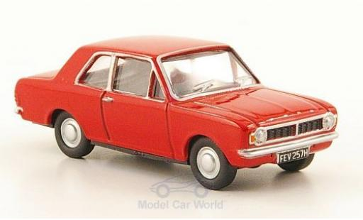 Ford Cortina 1/76 Oxford MKII rouge miniature