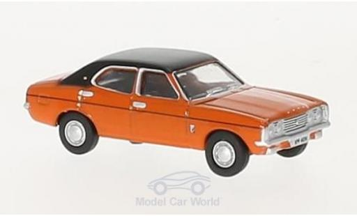 Ford Cortina 1/76 Oxford MKIII orange/noire RHD miniature