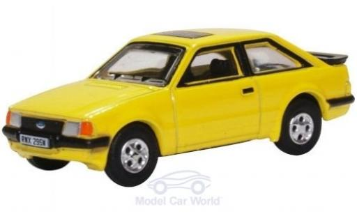 Ford Escort 1/76 Oxford MK III XR3i yellow 1981 diecast model cars