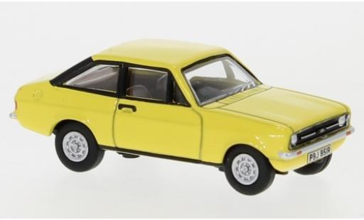 Ford Escort 1/76 Oxford Mk2 giallo RHD modellino in miniatura