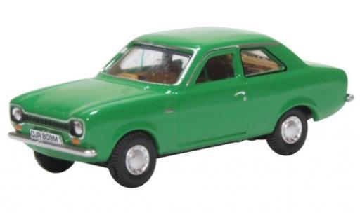 Ford Escort 1/76 Oxford MKI verde modellino in miniatura